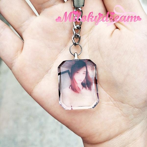 相片水晶匙扣